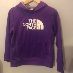 The north face purple hoodie girls large